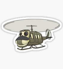 Military Helicopter Cartoon Sticker