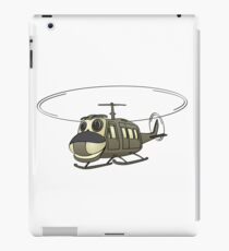 Military Helicopter Cartoon iPad Case/Skin