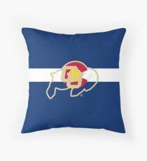 University of Colorado Boulder / Colorado Flag - Throw Pillow