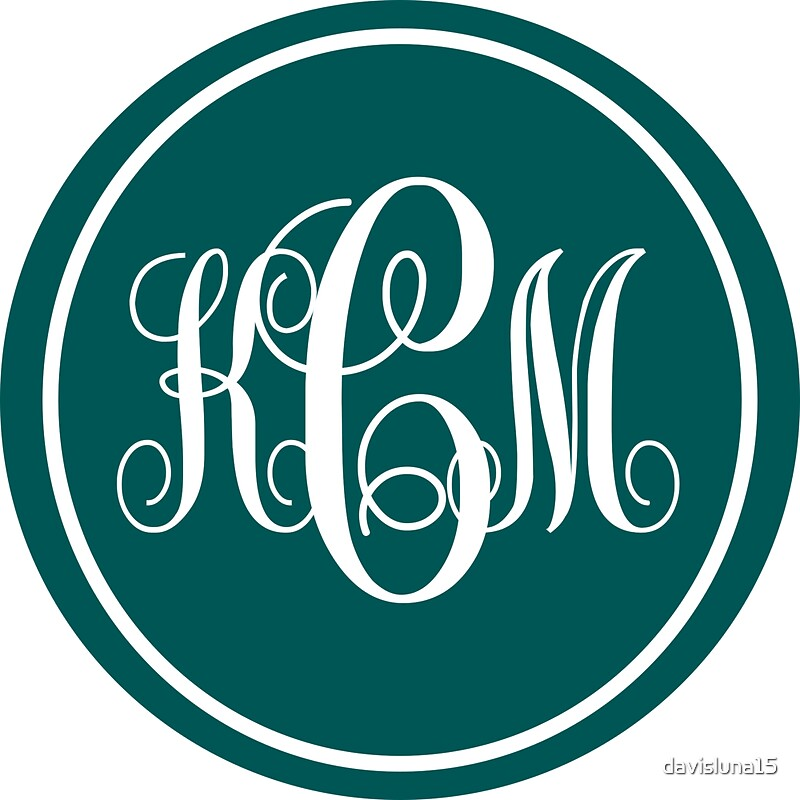 Quot Kcm Monogram Quot Stickers By Davis Luna Redbubble
