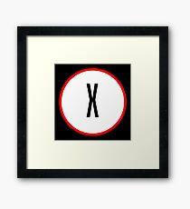 X Files X Framed Print