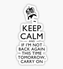 Freddie Mercury Keep Calm Sticker