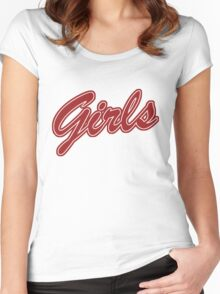 Girls (Red) Women's Fitted Scoop T-Shirt