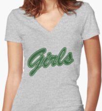 Girls (Green) Women's Fitted V-Neck T-Shirt