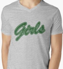 Girls (Green) Men's V-Neck T-Shirt