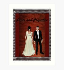 Pride and Prejudice Darcy and Lizzy 2 Art Print