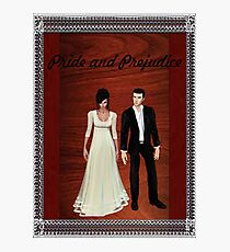 Pride and Prejudice Darcy and Lizzy 2 Photographic Print