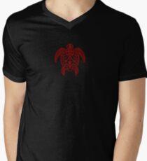 Native Turtle Mens V-Neck T-Shirt