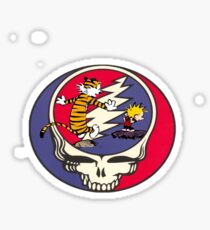 Grateful Dead Steal Your Face Calvin and Hobbes Sticker