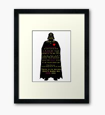 Star Wars Darth Vader: Valentines Framed Print