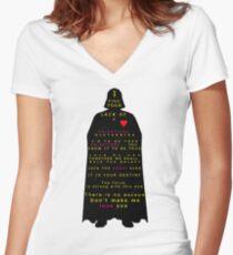 Star Wars Darth Vader: Valentines Women's Fitted V-Neck T-Shirt