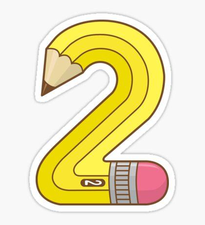 #2 Pencil Sticker