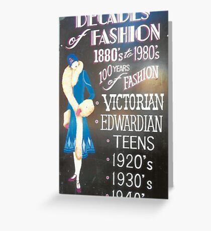 Retro Fashions In Haight-Ashbury Greeting Card