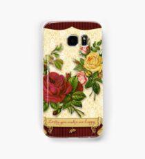 Loving You Makes Me Happy Elegant Roses Damask Samsung Galaxy Case/Skin