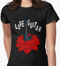 Love Guitar Women's Fitted T-Shirt
