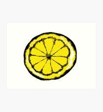 Lemon in the style of stone roses Art Print