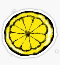 Lemon in the style of stone roses Sticker