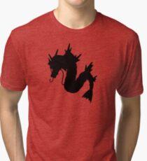Gyarados Silhouette Tri-blend T-Shirt