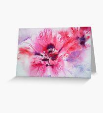 Plum Poppy Greeting Card