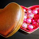 Pink Pearls in a heartshaped box by ©The Creative  Minds