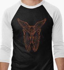 Shard Helm [ ORANGE ] Men's Baseball ¾ T-Shirt