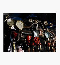 Controlling the steam on Mallard 4468 Photographic Print
