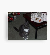 Smokey waiting for Santa Canvas Print