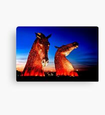 """THE KELPIES"" ANOTHER TAKE. Canvas Print"