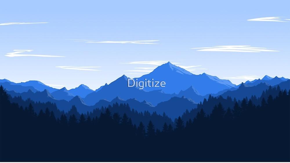 Mountain Landscape by Digitize