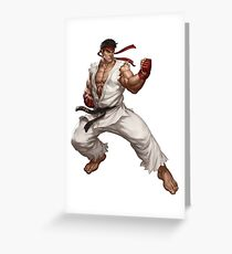 Ryu fight - Street Fighter Greeting Card