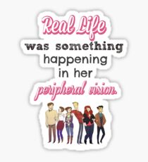 Fangirl by Rainbow Rowell Quote Sticker