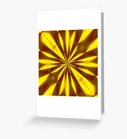 Bold Red, Green and Gold Repeating Starburst Greeting Card