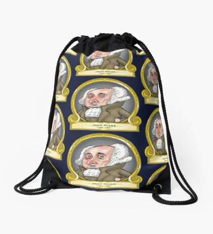 President John Adams Drawstring Bag
