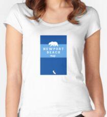 Newport Beach - California. Women's Fitted Scoop T-Shirt