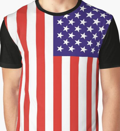 US National Flag Graphic T-Shirt
