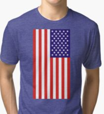US National Flag Tri-blend T-Shirt