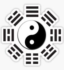 YIN YANG, Yin & Yang, I Ching, China, Chinese, Martial Arts, MMA, BLACK Sticker