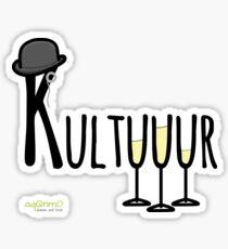Kultuuur (mit 3 Sektgläsern) | Culture Sticker