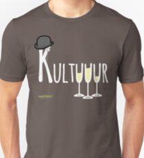 Kultuuur (mit 3 Sektgläsern) - Weisse Version für dunkle Shirts  Culture White Edition Unisex T-Shirt