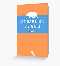 Newport Beach - California. Greeting Card