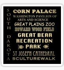 South Dakota Famous Landmarks Sticker