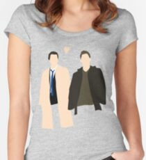 Destiel is real Women's Fitted Scoop T-Shirt