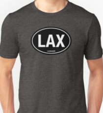 LAX - EURO STICKER Black T-Shirt