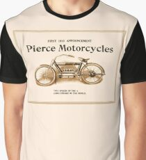 1910 Pierce motorcycles, classic American motorbike ad Graphic T-Shirt
