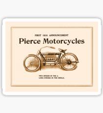 1910 Pierce motorcycles, classic American motorbike ad Sticker