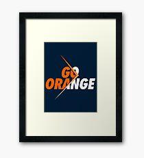 GO ORANGE - V3 Framed Print