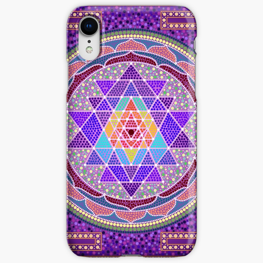 Sri Yantra Purple iPhone Cases & Covers