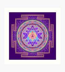 Sri Yantra Purple Art Print