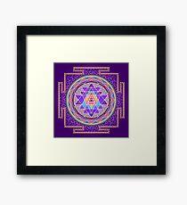 Sri Yantra Purple Framed Print