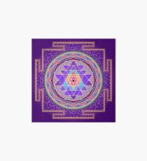Sri Yantra Purple Art Board